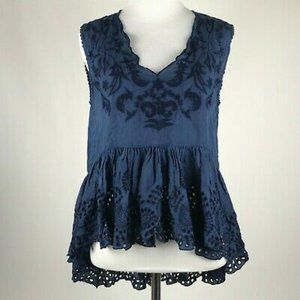 NWT Chelsea & Violet Embroidered Eyelet Hi-Lo Top